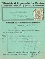 CP  Publicitaire WAREMME 1947 - Librairie & Papeterie Du Centre - L. FRAIPONT-BODEN - Waremme