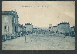 Gard. Alès Tamaris ,place Des Forges Avec Oblitération Tamaris - Alès
