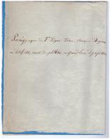 1851 - Sarthe - Panégyrique De François Edgar Tison Marquis D'Argenais Curé De La Cathédrale Du Mans - FRANCO DE PORT - Autographs