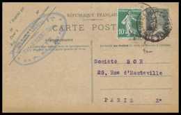 4397 20c Pasteur Recommande Complement Metz 1926 Carte Postale France Entier Postal Stationery - Biglietto Postale