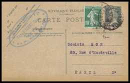 4397 20c Pasteur Recommande Complement Metz 1926 Carte Postale France Entier Postal Stationery - Postal Stamped Stationery