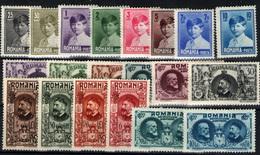 Rumanía Nº 336/43. Año 1927/29 - 1918-1948 Ferdinand I., Charles II & Michel