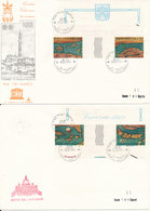 Vatican FDC 6-6-1972 Save Venezia In Gutter Pairs On To Covers With Cachet (number 14 Of 104 Copies) - Vatican