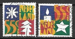 PAYS - BAS     -    1994 .   Y&T  N° 1493 / 1494 Oblitérés.  Sapin / Astérisque / Bougie / étoile - 1980-... (Beatrix)