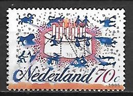 PAYS - BAS     -    1995 .   Y&T  N° 1510 Oblitéré .  Gateau / Bougies / Signes Du Zodiaque - 1980-... (Beatrix)