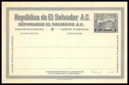 4764 P84 2 Dos Centavos Vert Neuf Tb Carte Postale Salvador Entier Postal Stationery - El Salvador