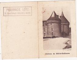 Petit Calendrier 1952 - Château De Sillé-le-Guillaume / PHARMACIE LOTZ CHALONS-sur-MARNE - Calendriers