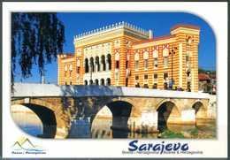 SARAJEVO - Town Hall - Cartolina Non Viaggiata, Come Da Scansione. - Bosnia Erzegovina
