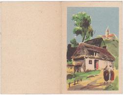Petit Calendrier 1951 - Paysage Champêtre - Calendarios