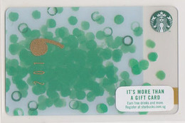 Starbucks Card Singapore 2019 New Year Unused Green Dots - Gift Cards