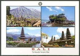 BALI - Templi - 4 Vedute - Cartolina Non Viaggiata, Come Da Scansione. - Indonesia