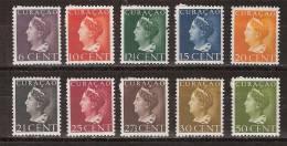 Nederlandse Antillen Curacao 168-177 MLH Koningin Queen Reine Wilhelmina.1947 LOOK NOW FOR VERY FINE MLH COLLECTION - Curaçao, Nederlandse Antillen, Aruba