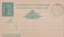 SAN MARINO  1895   ENTIER POSTAL/GANZSACHE/POSTAL STATIONERY CARTE - Postwaardestukken