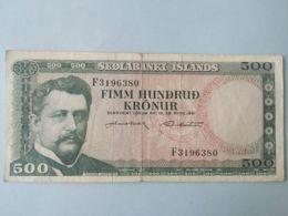 500 Kronu 1961 - Islanda