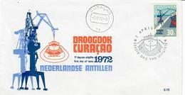 ANTILLE OLANDESI 1972 - DROOGDOK CURACAO  - FDC - Antille