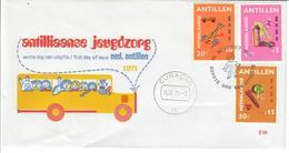 ANTILLE OLANDESI 1971 - ANTILLIAANSE JEUGDZORG  - FDC - Antille