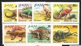 MTDR-BK1-405 MINT ¤ SAHARA 1992 7w In Serie ¤ DINOSAURS PREHISTORICS PRÉHISTORIQUES DINO'S PREHISTORIE - Stamps