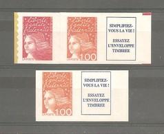 MARIANNE LUQUET. Y&T N° 3101a ** + 3101b** Type 1. Neufs. Issus Du Carnet 1508. TB. - 1997-04 Marianne Du 14 Juillet