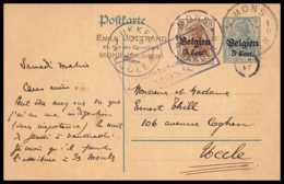 43066 Belgique (Belgium) Belgien Mons 1916 Occupation Allemande Entier Postal Stationery Carte Postale Guerre 1914/1918 - Postmark Collection