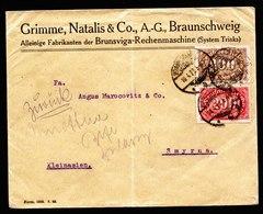 A6251) DR Infla Brief Braunschweig 10.04.23 N. Smyrna / Kleinasien Zurück - Briefe U. Dokumente