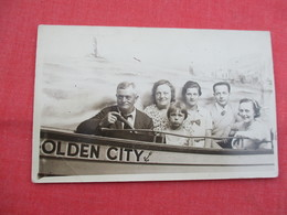 RPPC  TO ID Family  Boat Ride Olden City       Ref  3458 - Postcards