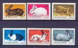 Bulgarie (Bulgaria) MNH ** 184 N° 2993 / 2998 Faune (Animals & Fauna) Lapins Lapin Rabbit Rabbits - Lapins