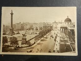 19949) LONDON TRAFALGAR SQUARE AND NATIONAL GALLERY VIAGGIATA 1919 MINIMO STRAPPO A DESTRA - Trafalgar Square
