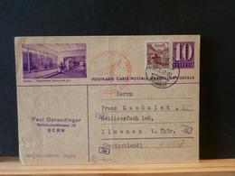 A9937 CP SUISSE  ILLUSTRE  1941 POUR ALLEMAGNE CENSURE  PLI - Interi Postali