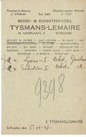 PK Publicitaire SINT-TRUIDEN 1947 - Boek- & Kunsthandel TYSMANS-LEMAIRE - Sint-Truiden