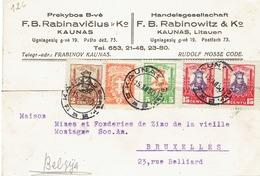 CARTE -LETTRE  DE 1930 TIMBRES NR 263 289 291 293 (2) - Litauen