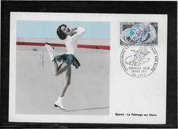 Thème Patinage Artistique  - Jeux Olympiques - Sports - Carte Maximum - Figure Skating