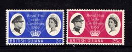 BRITISH  GUIANA      1966    Royal  Visit   Set  Of  2    MH - British Guiana (...-1966)