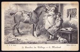 CPA Début 1900 - Le Boucher Du Village AVEC BOULEDOGUE FRANCAIS  - FRENCH BULLDOG - Chien - Dog - Série Riche 75 - Cani