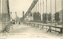 WW Promo : 2 X Cpa 38 GRENOBLE. Cours Saint-André Et Ouvriers Sur Pont Du Drac - Grenoble