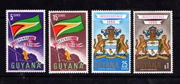 GUYANA      1966    Independence   Set  Of  4    (heavy Mounted)    MH - Guyana (1966-...)