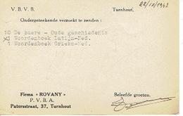 """PK Publicitaire TURNHOUT 1947 - Firma """"ROVANY"""" - Boekhandel - Turnhout"""