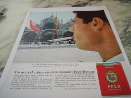 ANCIENNE PUBLICITE PLACE ST MARC  NOUVEL AROME CIGARETTE PEER EXPORT 1963 - Tabac (objets Liés)