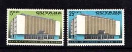 GUYANA      1966    Opening  Of  Bank  Of  Guyana   Set  Of  2        MH - Guyana (1966-...)