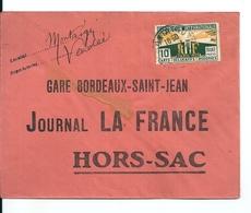 Lettre Hors Sac / Journal La France / Gare Bordeaux St Jean, 1925 - France