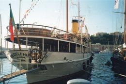 L - PHOTO ORIGINALE - BATEAU - MONACO CLASSIC WEEK - SS DELPHINE OU FURENT PREPARES LES ACCORDS DE YALTA - 09 / 2003 - Bateaux