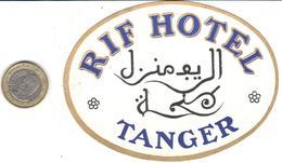 ETIQUETA DE HOTEL  - RIF HOTEL  -TANGER - Adesivi Di Alberghi