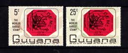 GUYANA      1967    Worlds  Rarest  Stamp  Commemoration   Set  Of  2        MH - Guyana (1966-...)