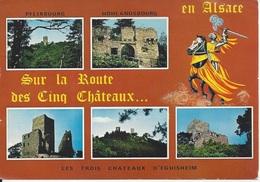 CPM France Alsace Sur La Route Des Cinq Châteaux Pflixbourg Hohlandsbourg Les Trois Châteaux D'Eguisheim - Polynésie Française