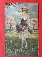 1920 - DAME MET GROTE HOED - FEMME AVEC GRAND CHAPEAU - MODE - Mode
