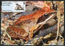 JERSEY (2015). Carte Maximum Card ATM Post&Go - Rana Dalmatina, Agile Frog, Grenouille Agile, Springfrosch - Jersey