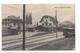 23112- Blonay Buffet De La Gare Train (attention Trous De Punaises) - VD Vaud