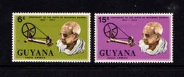 GUYANA      1969    Birth  Centenary  Of  Mahatma  Gandhi   Set  Of  2        MH - Guyana (1966-...)