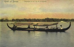 Indonesia, BORNEO KALIMANTAN, Native Tambangan Boat (1899) Postcard - Indonesië