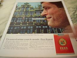 ANCIENNE PUBLICITE  BRUXELLES  NOUVEL AROME CIGARETTE PEER EXPORT 1963 - Tabac (objets Liés)