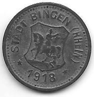 Notgeld Bingen 10 Pfennig 1918 Zn 1532.1 /41.1 - [ 2] 1871-1918 : Duitse Rijk